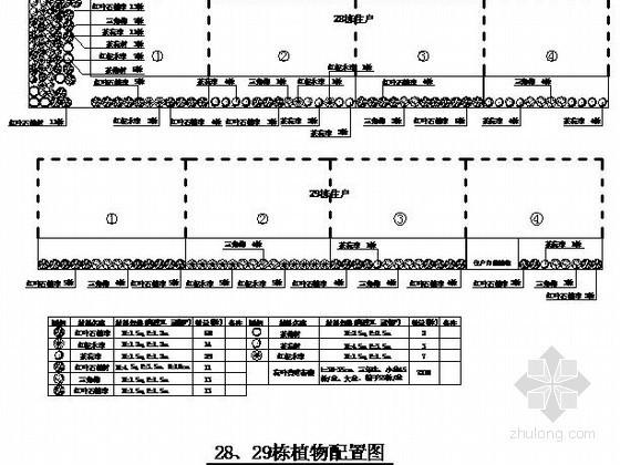 [株洲]某小区绿化工程竣工图