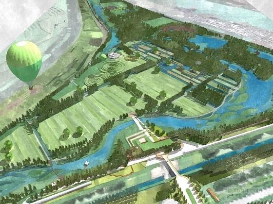 [山东]北方丰富多元化湿地公园景观规划方案