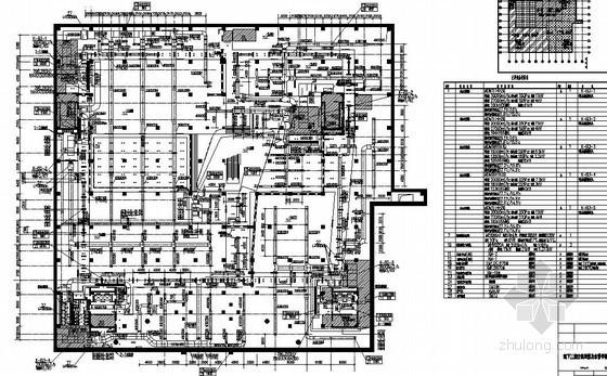 成都某商城地下三层空调通风平面图