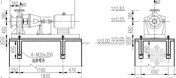 锅炉房辅助设备安装详图