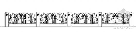 铁艺栏杆立面设计图(四)