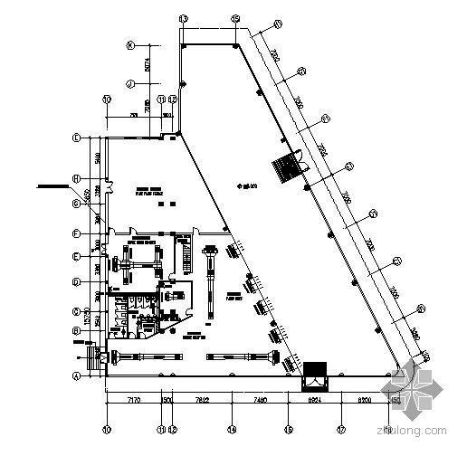 某地宝马汽车展厅空调平面图
