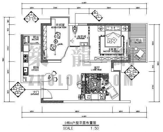 深圳某大型楼盘样板房设计图纸