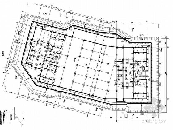 [福建]深基坑PHC管桩与扩孔锚杆组合支护施工图