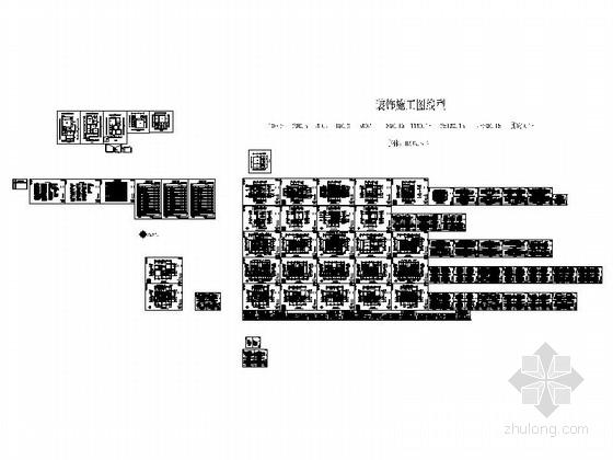 [杭州]某复古欧式三层别墅室内设计施工图 总缩略图