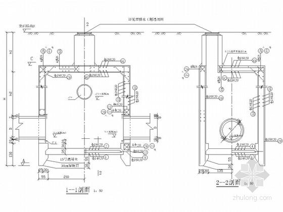 [浙江]某市政污水顶管及沉井结构设计方案图纸