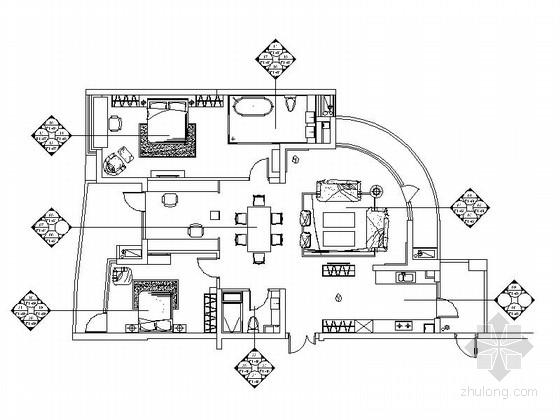 工程图 户型 户型图 平面图 560_420