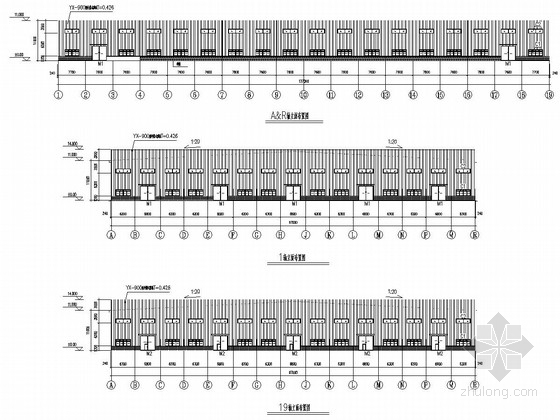 [河南]单层门刚结构冷弯型钢加工车间建筑结构施工图(5T 10T 16T吊车)