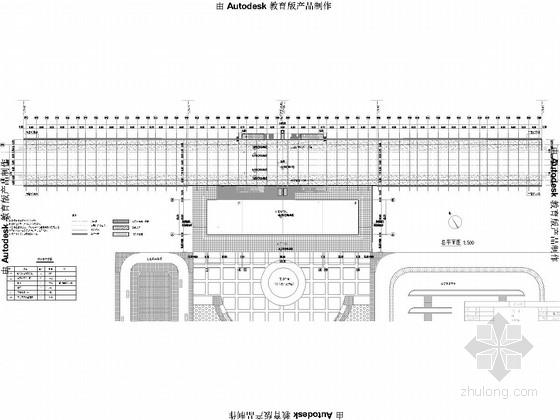 [湖南]铁路车站覆盖面积8100平方米雨棚施工图21张(雨棚长度450m)