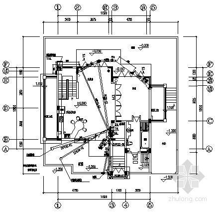 [海南]别墅建筑A型住宅电气施工预埋图