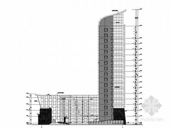 [河南]16层框架剪力墙结构通讯机房及调度办公楼结构图(含建筑图)