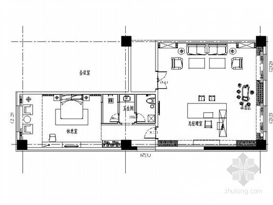 精品酒店现代风格报告厅与贵宾室室内装修施工图(含效果)