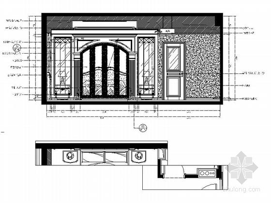 [常州]古典欧式三层别墅样板房装修图(含效果)次卧立面图