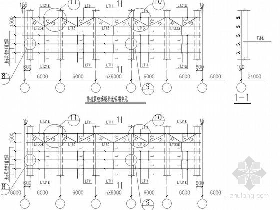 单跨门式钢架厂房设计参考图