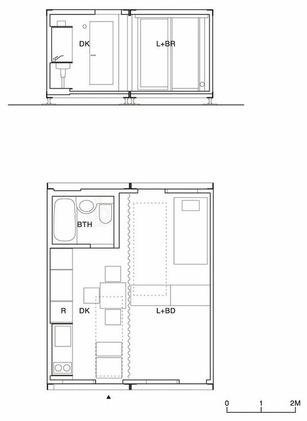 永久性使用的集装箱住宅建筑_9