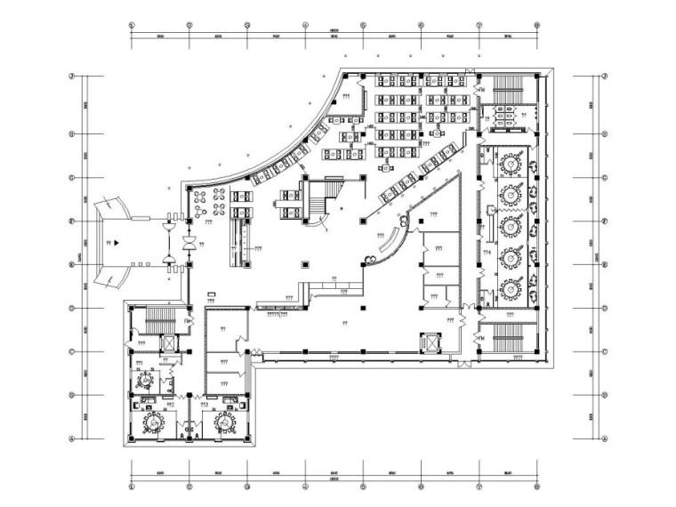 [天津]新中式风格酒楼内部装修全套施工图(附高清效果图)