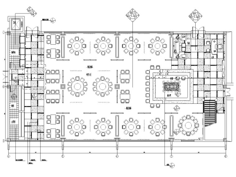 [江苏]五星级酒店中餐厅施工图(含效果图)