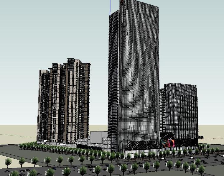 京基·滨河时代广场模型设计——深圳筑博设计