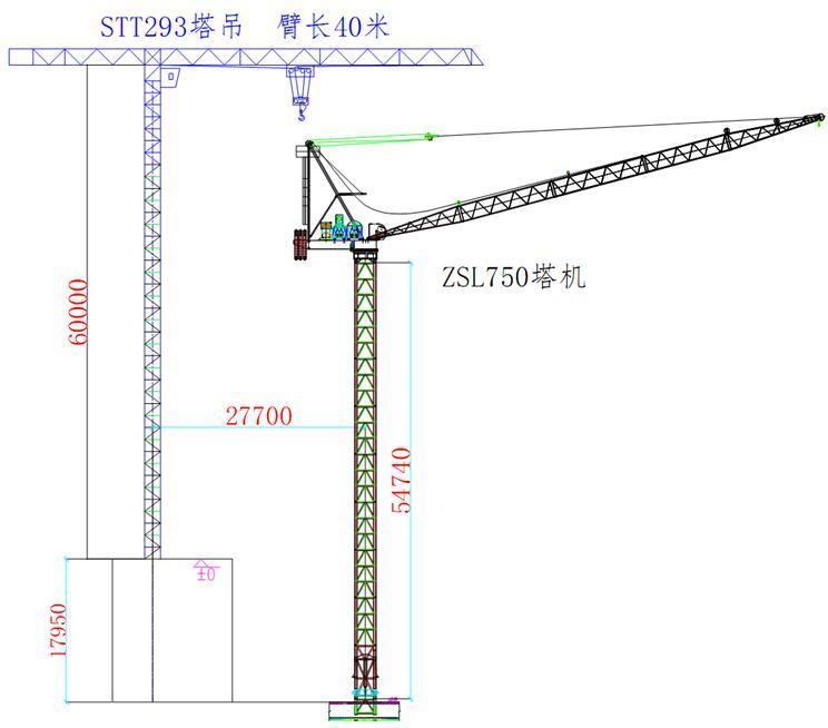 [天津]双塔办公楼工程B塔楼QTZ750型塔吊安装方案(45页)