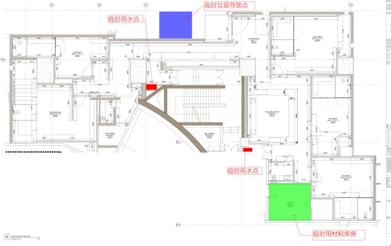 06B1层施工平面布置图
