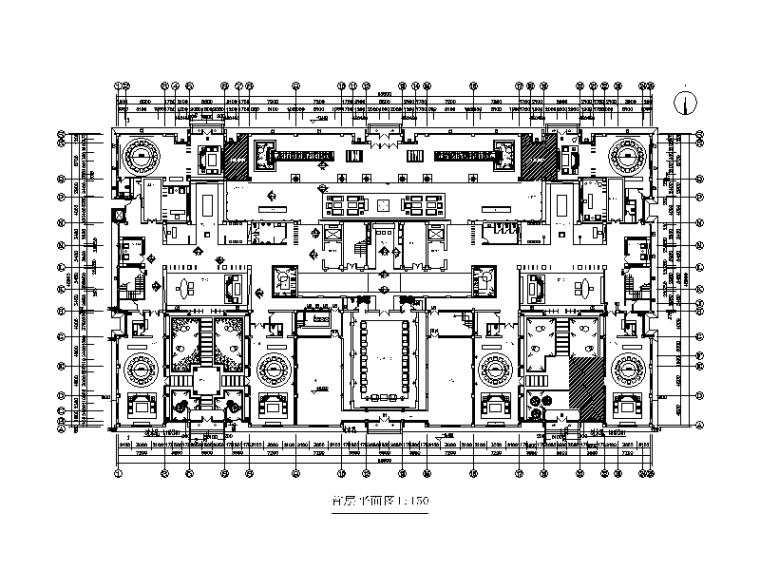[北京]某商会所室内设计CAD施工图(含效果图)