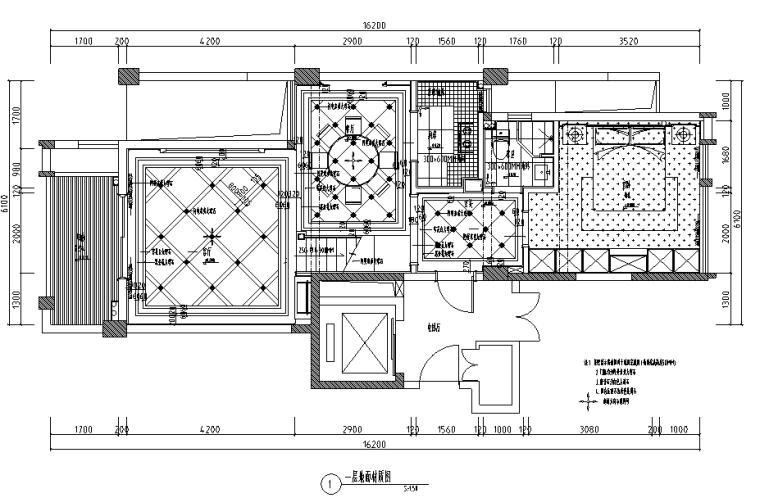 丽景天下样板房家装设计完整施工图(高清效果图)