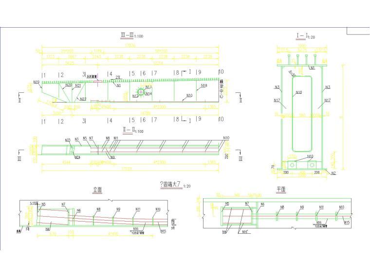 30+110+30m钢管混凝土中承式提篮拱特大桥梁施工图(175张)_6