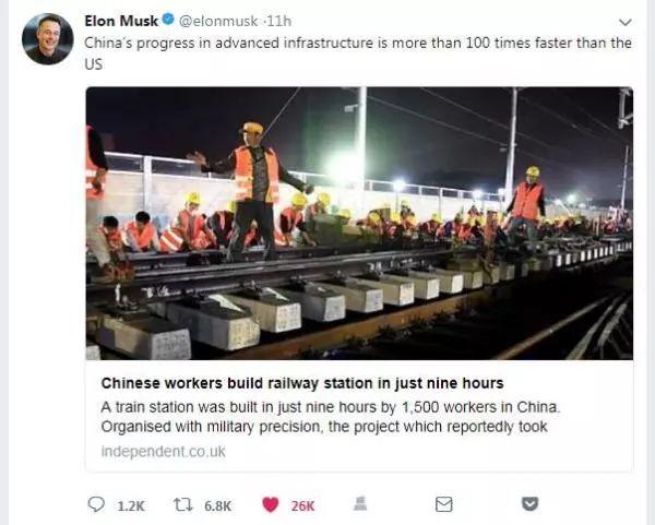 """""""中国速度""""折服美国科技巨头,见证中国的基建向心力!"""