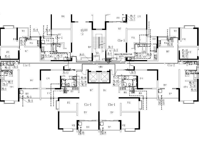 17层建筑给排水毕业设计(包含生活给水系统、污水系统、废水系统)-j建筑给排水毕业设计图纸-Model3.jpg