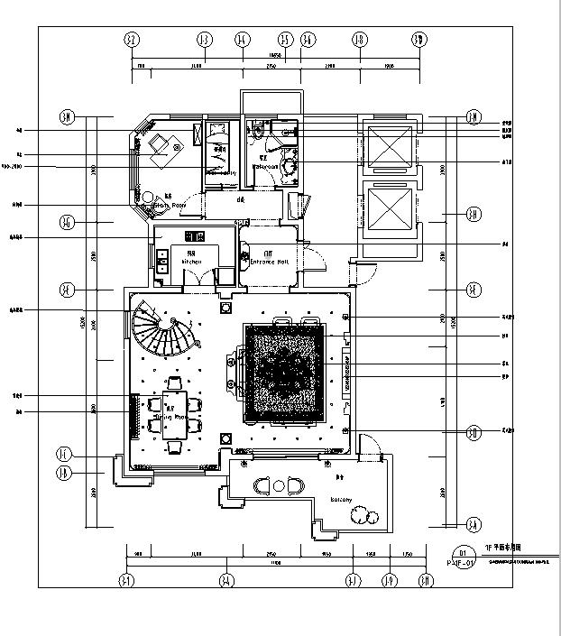 [温州]欧式风格别墅样板间住宅空间设计施工图(含效果图)