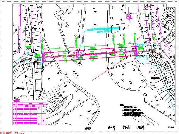 80+87米独塔单索面跨河斜拉桥设计施工图纸(共56张)