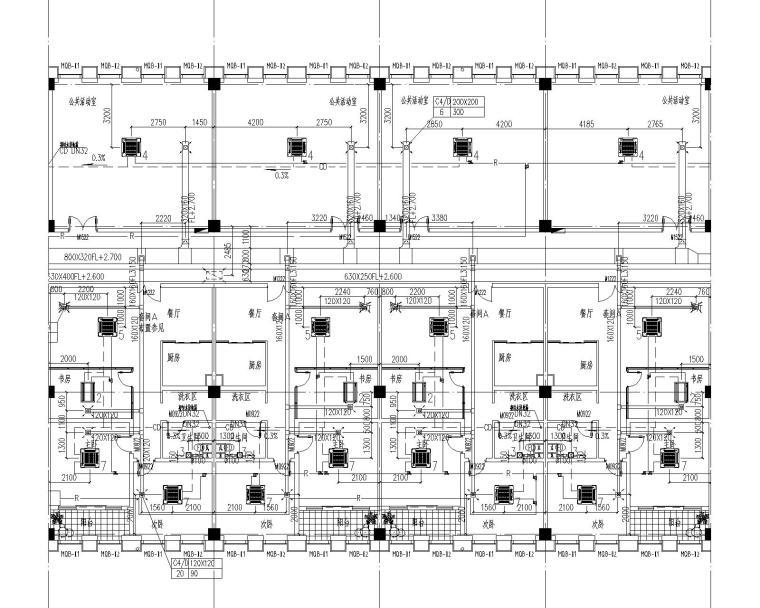 启东市市级机关后勤服务中心通风设计全套图纸