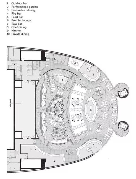 迪拜地标旁的2000平米超大餐厅,精致细节成就奢华设计_2