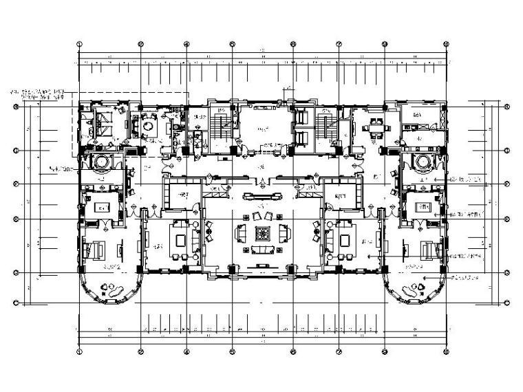 [江苏]精品!简欧大型商务豪华会所室内设计施工图(含效果图)