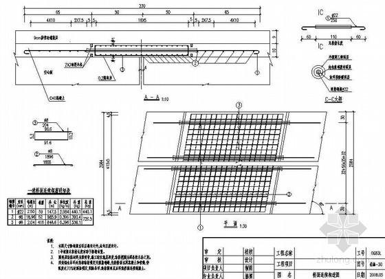 13m空心板简支梁桥面连续构造节点详图设计