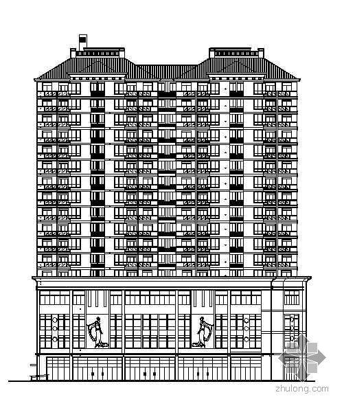 [温州]某十七层商住楼建筑施工图