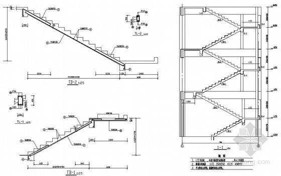 [河北]某板式楼梯节点构造详图
