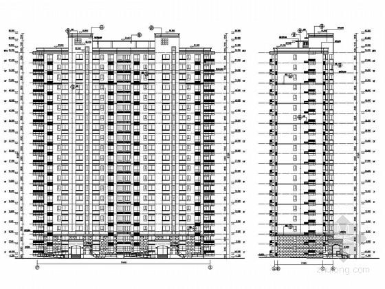 [西安]20层剪力墙结构大学内高层住宅楼建筑结构施工图