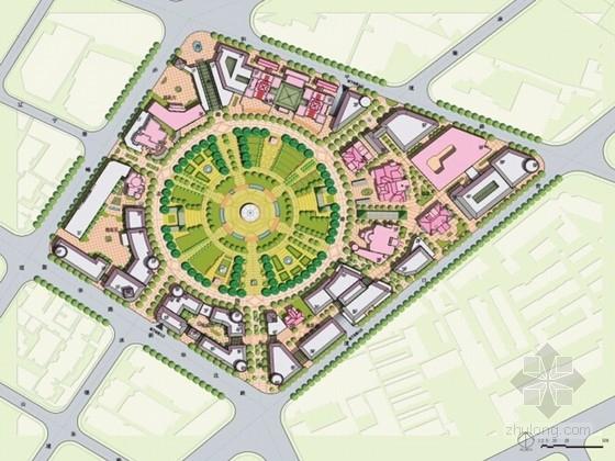 [天津]法式风情区城市中心公园设计方案