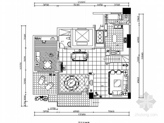 [原创]现代简约时尚2层花园小别墅CAD施工图