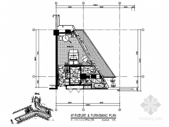 [深圳] 蛇口某国际大酒店K4房型室内装修图