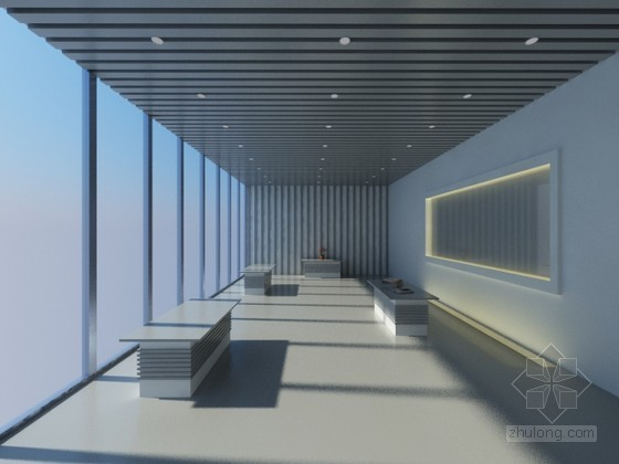 vr展厅3d模型资料下载-阳光展厅室内3D模型