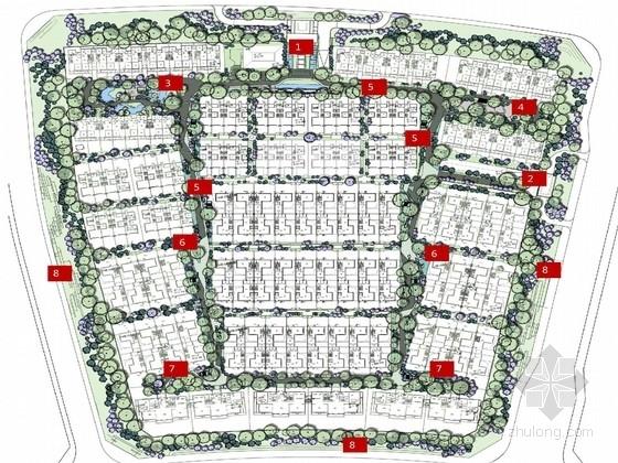 [北京]新中式皇室气派别墅区景观规划设计方案(著名设计公司)