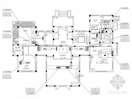 [上海]某别墅中央空调系统设计施工图(VRVII系列)