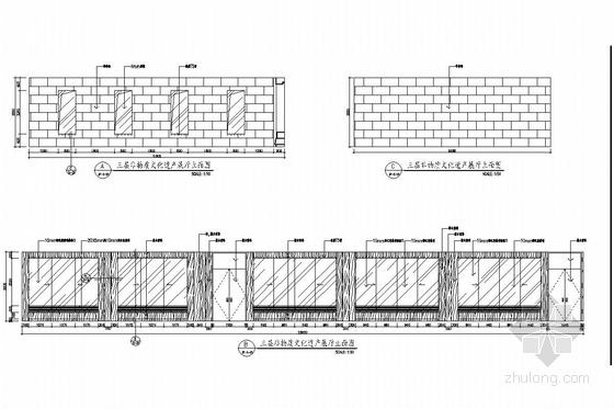 [杭州]市中心核心地带重点惠民工程文化中心装修图(含实景图) 展厅立面图