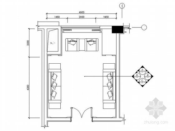 [东莞]独一无二商务酒店高档候见厅及卫生间装修施工图