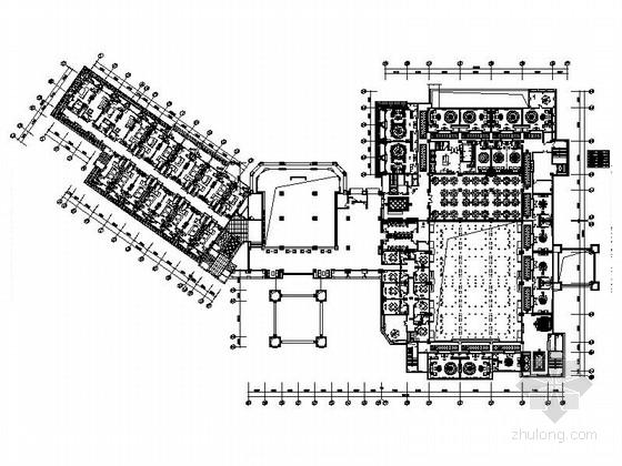 [广东]高档五星级商务酒店公共区室内装修施工图(含效果图)