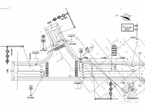 [浙江]城市次干道道路交通安全设施工程施工图设计22张