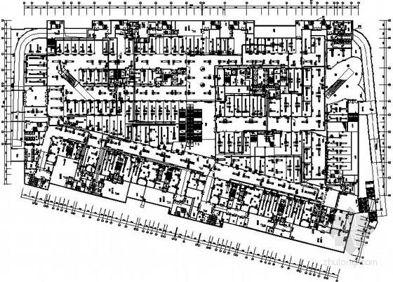 [福建]30万平商业街空调通风设计施工图(17栋楼 水环热泵)