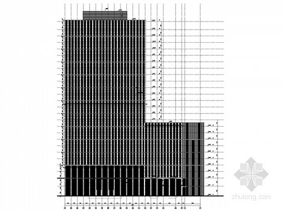122米超高层知名企业办公总部建筑立面图